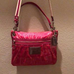 Coach Hot Pink Poppy crossbody